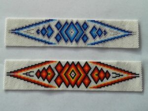 Beaded headband pieces